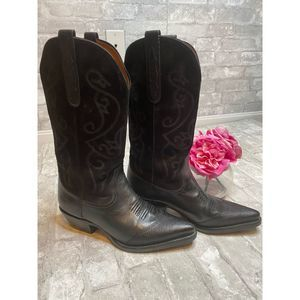Nine West Evie Leather Western Boot Size 9
